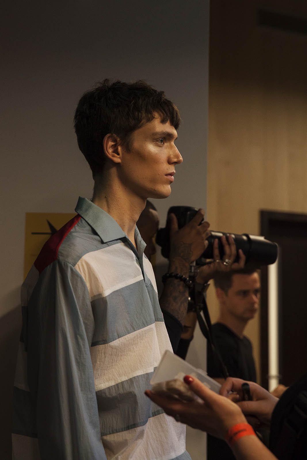 Xander Zhou SS'19 Backstage Images at London Fashion Week Men's by Caoimhe Hahn for Sagaboi. June 10 2018