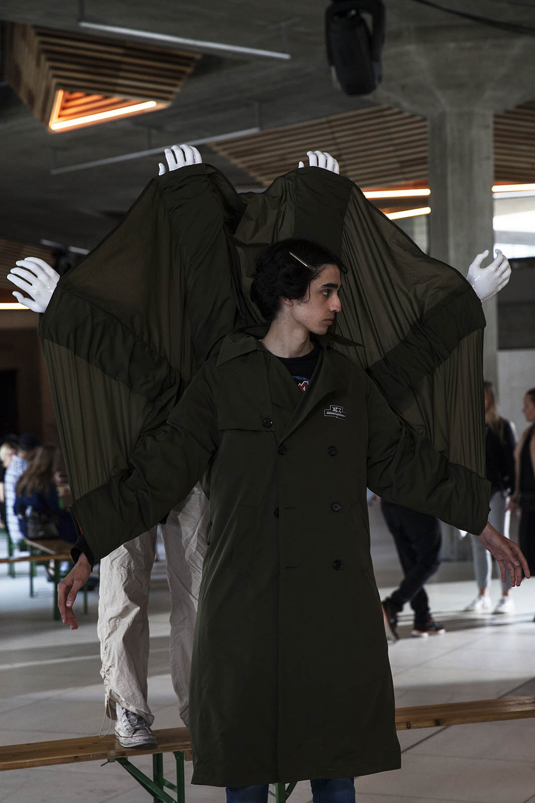 Xander Zhou SS19 Backstage Images at London Fashion Week Men's by Caoimhe Hahn for Sagaboi. June 10 2018