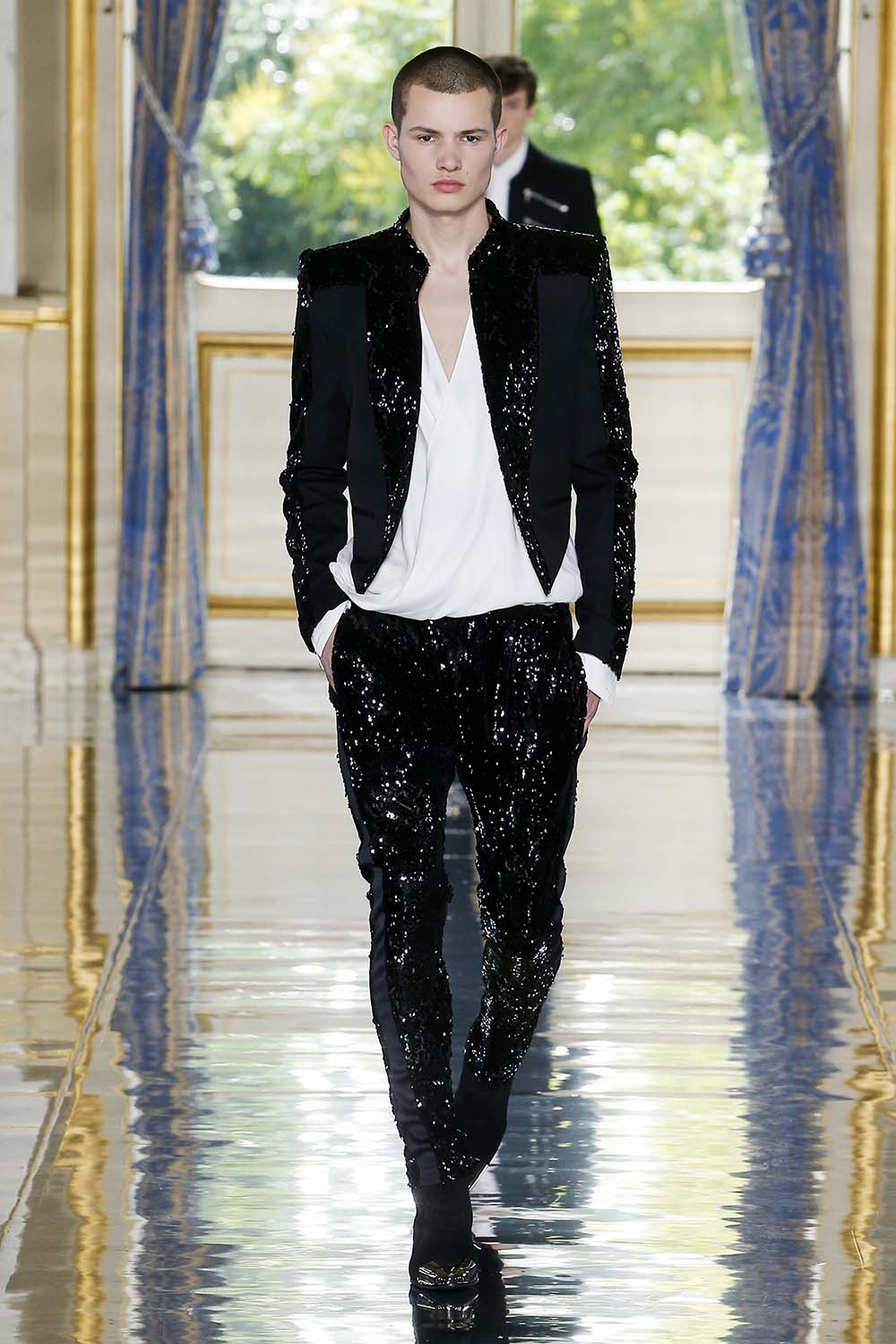 Balmain Paris Fashion Week Men's SS19 - Sagaboi - Look 104