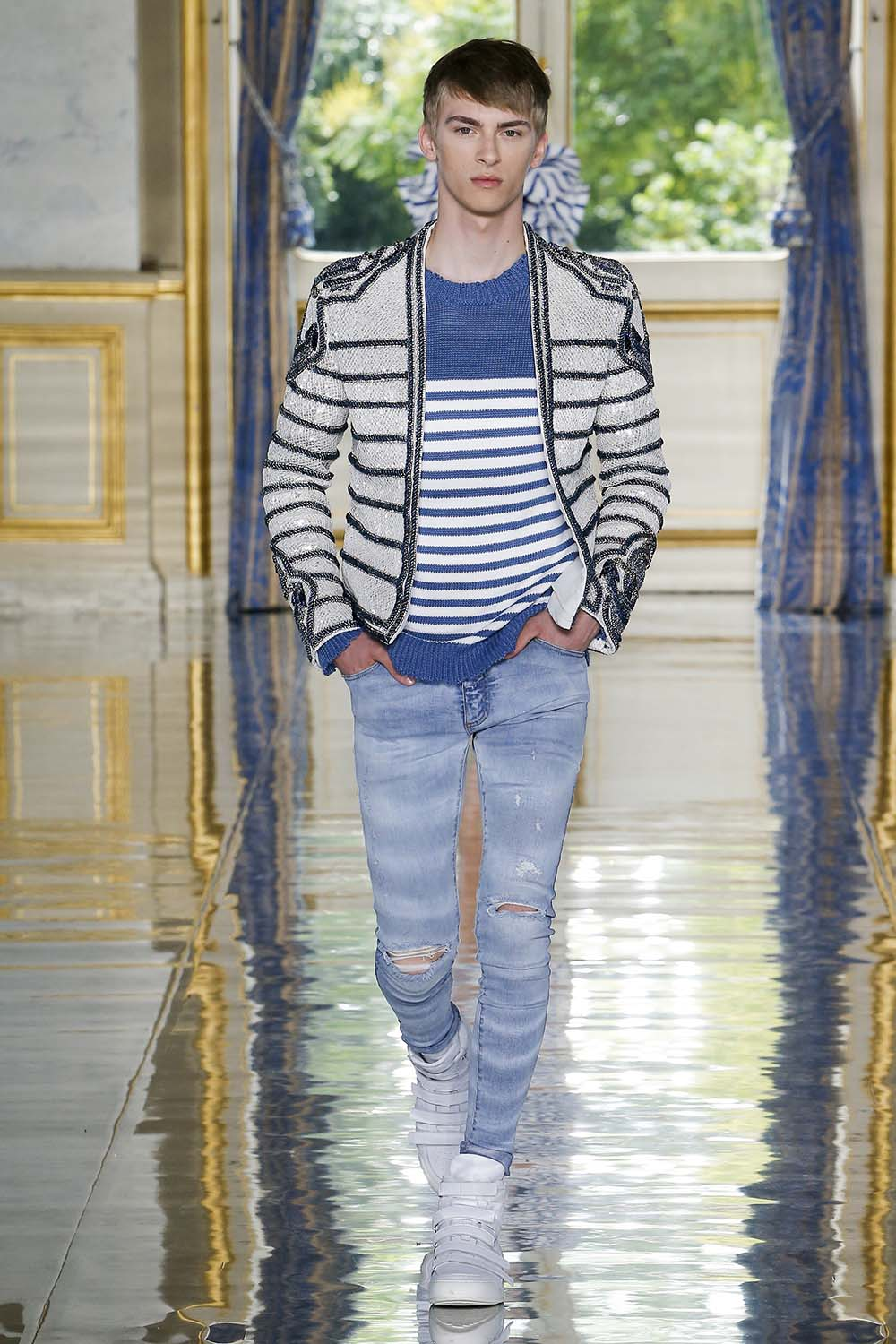Balmain Paris Fashion Week Men's SS19 - Sagaboi - Look 15