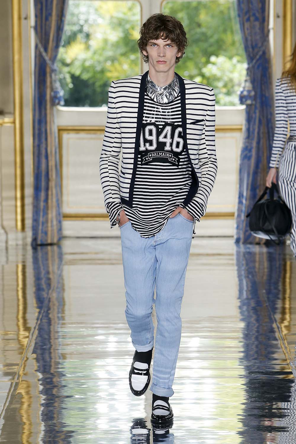 Balmain Paris Fashion Week Men's SS19 - Sagaboi - Look 20