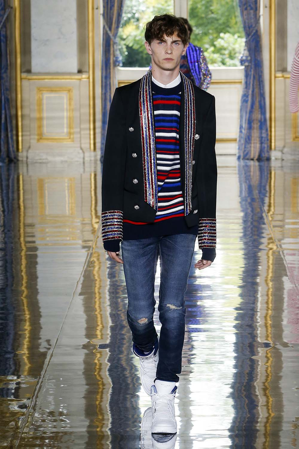 Balmain Paris Fashion Week Men's SS19 - Sagaboi - Look 25