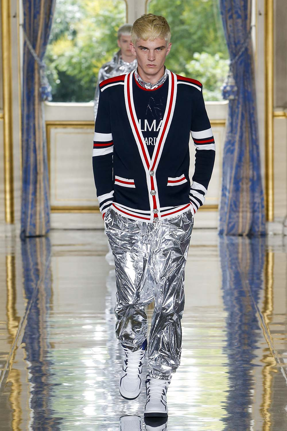 Balmain Paris Fashion Week Men's SS19 - Sagaboi - Look 35