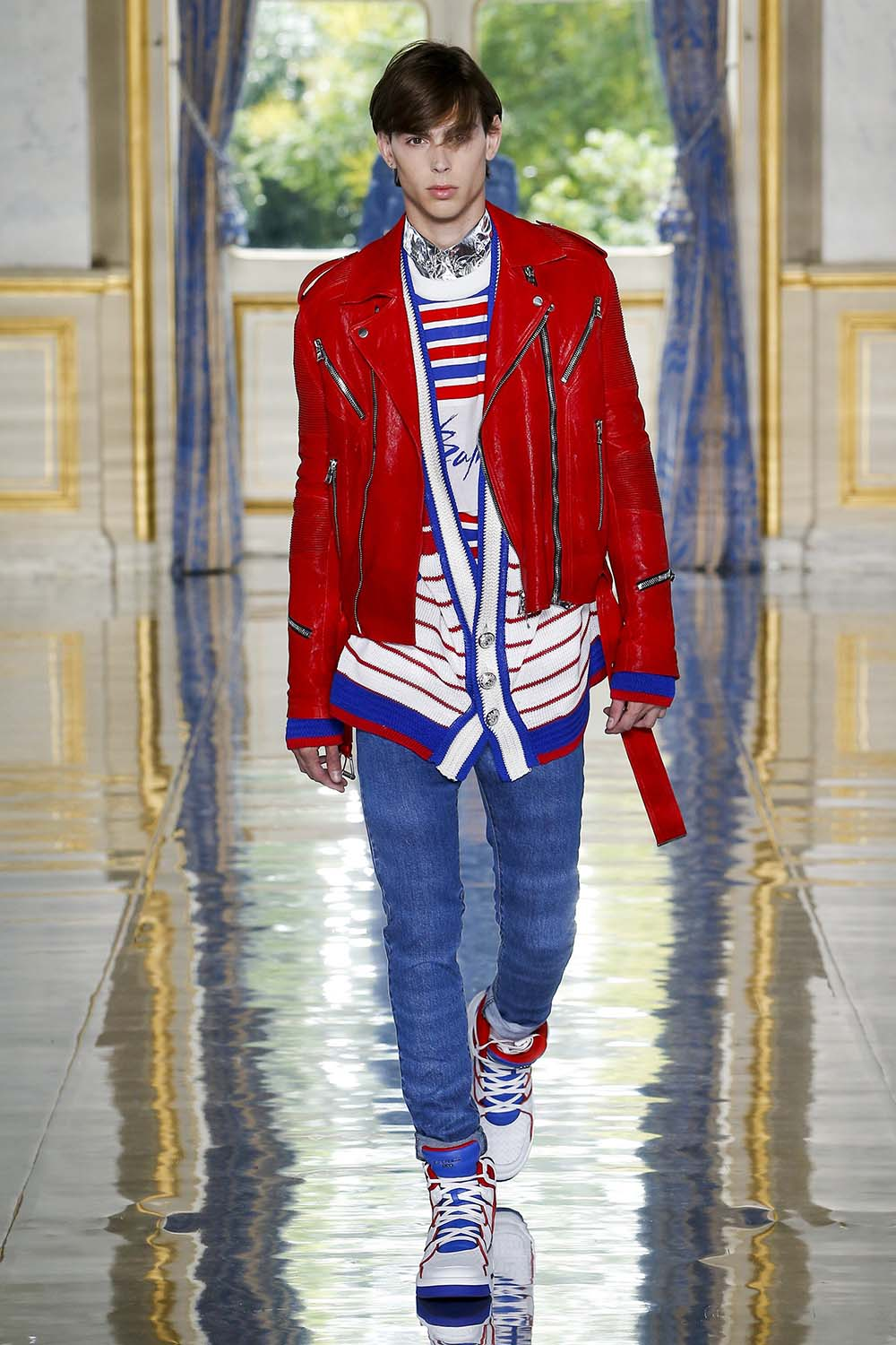 Balmain Paris Fashion Week Men's SS19 - Sagaboi - Look 39