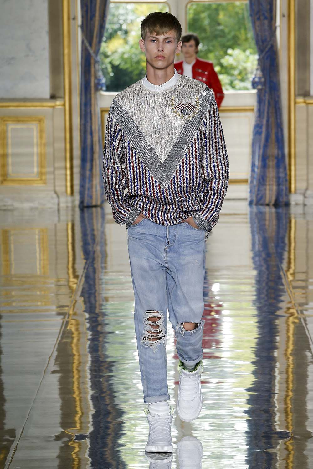 Balmain Paris Fashion Week Men's SS19 - Sagaboi - Look 4