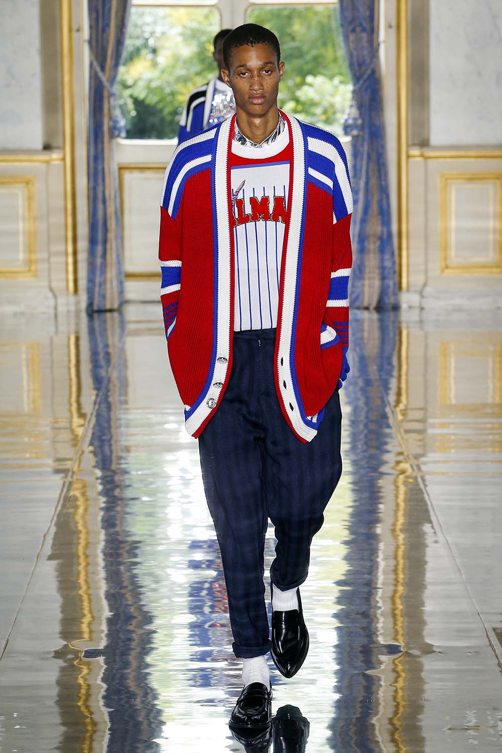 Balmain Paris Fashion Week Men's SS19 - Sagaboi - Look 42