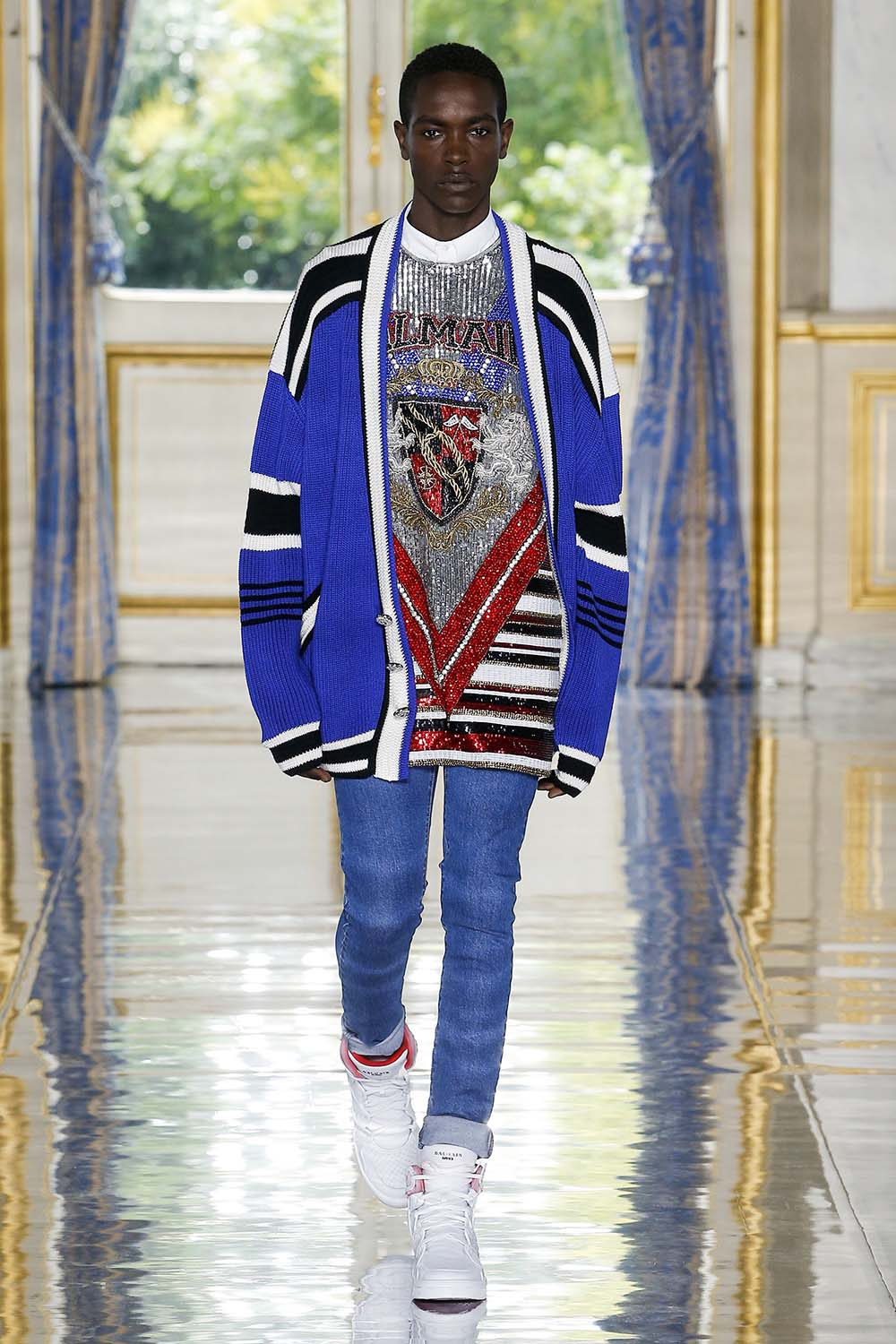 Balmain Paris Fashion Week Men's SS19 - Sagaboi - Look 43