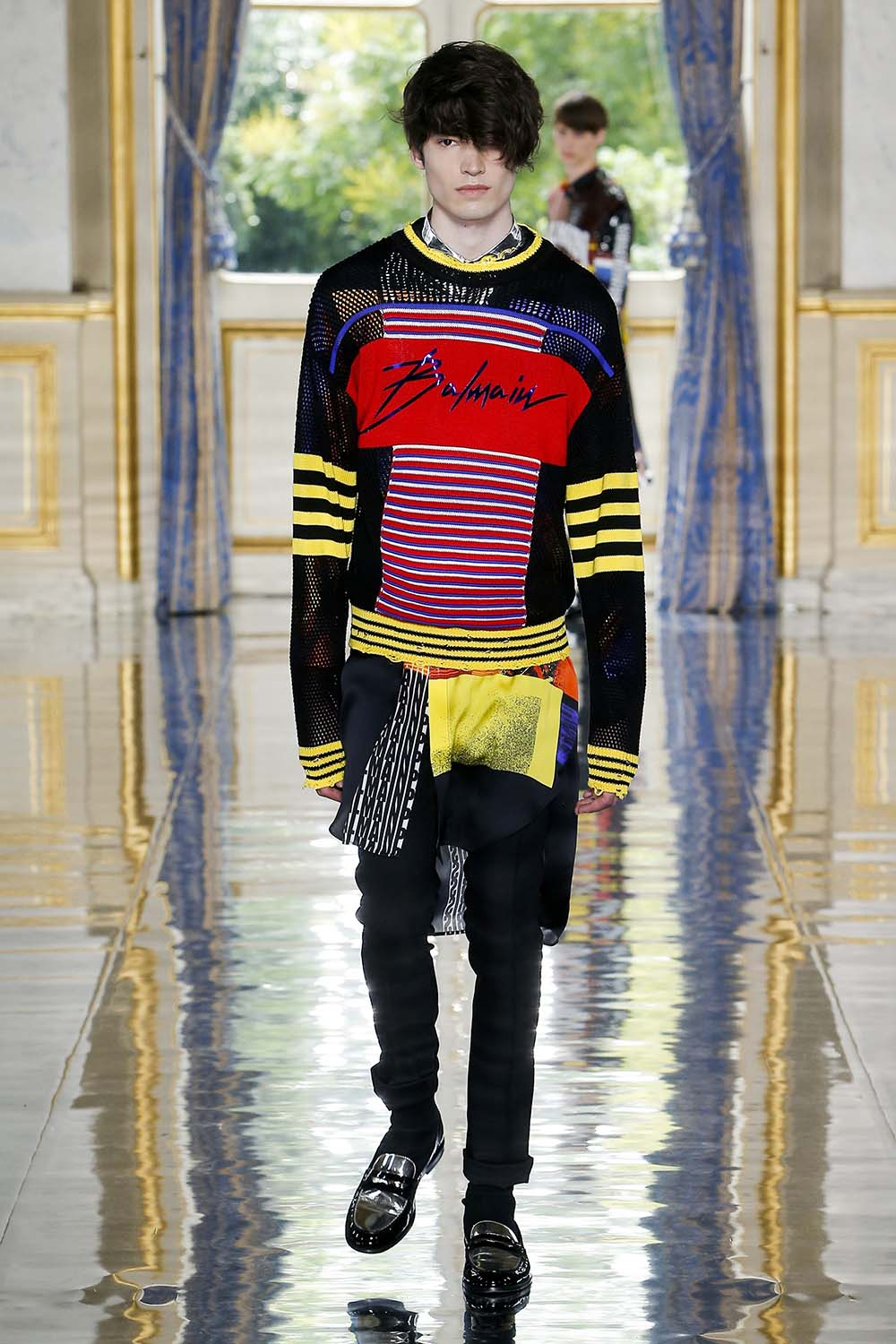 Balmain Paris Fashion Week Men's SS19 - Sagaboi - Look 48