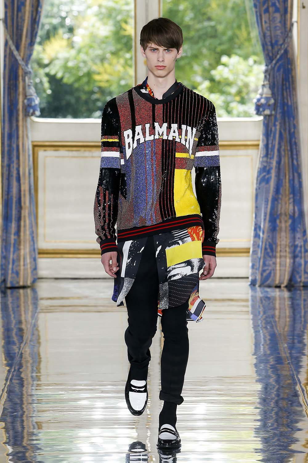 Balmain Paris Fashion Week Men's SS19 - Sagaboi - Look 49