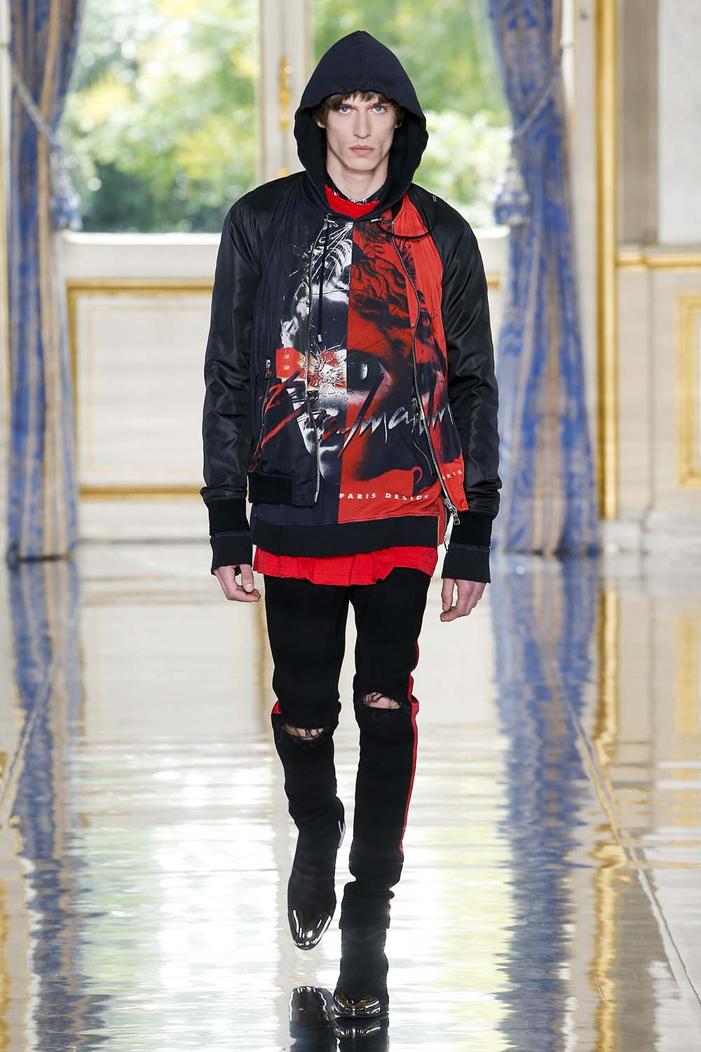 Balmain Paris Fashion Week Men's SS19 - Sagaboi - Look 63
