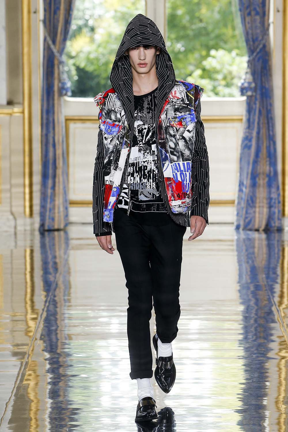 Balmain Paris Fashion Week Men's SS19 - Sagaboi - Look 69