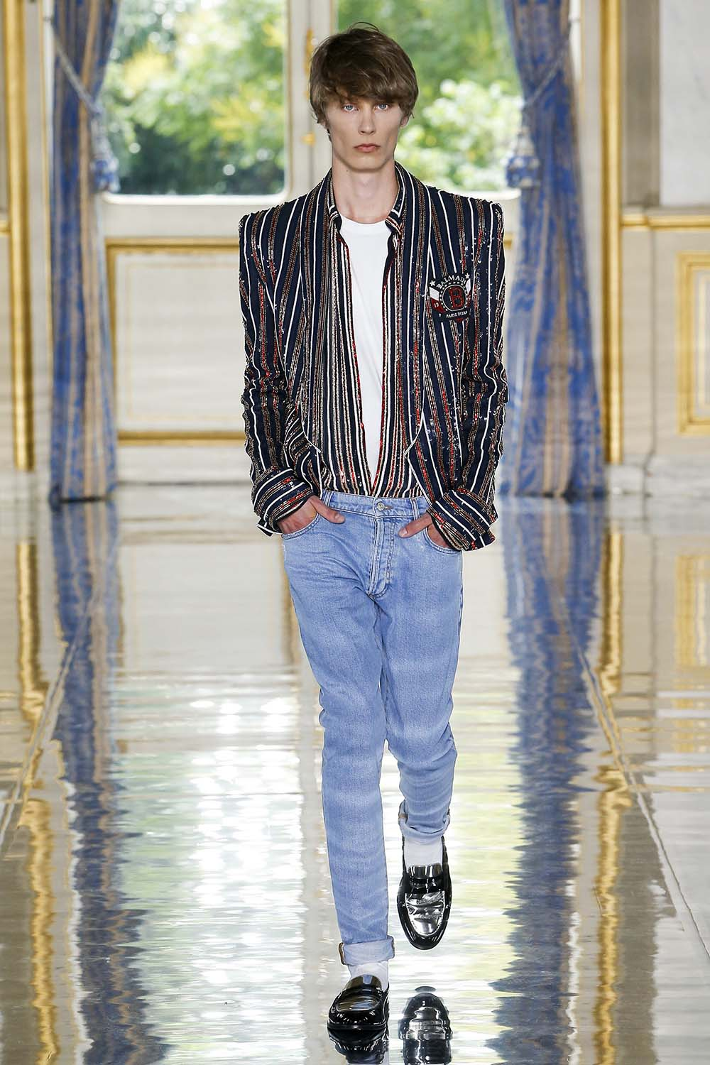 Balmain Paris Fashion Week Men's SS19 - Sagaboi - Look 7