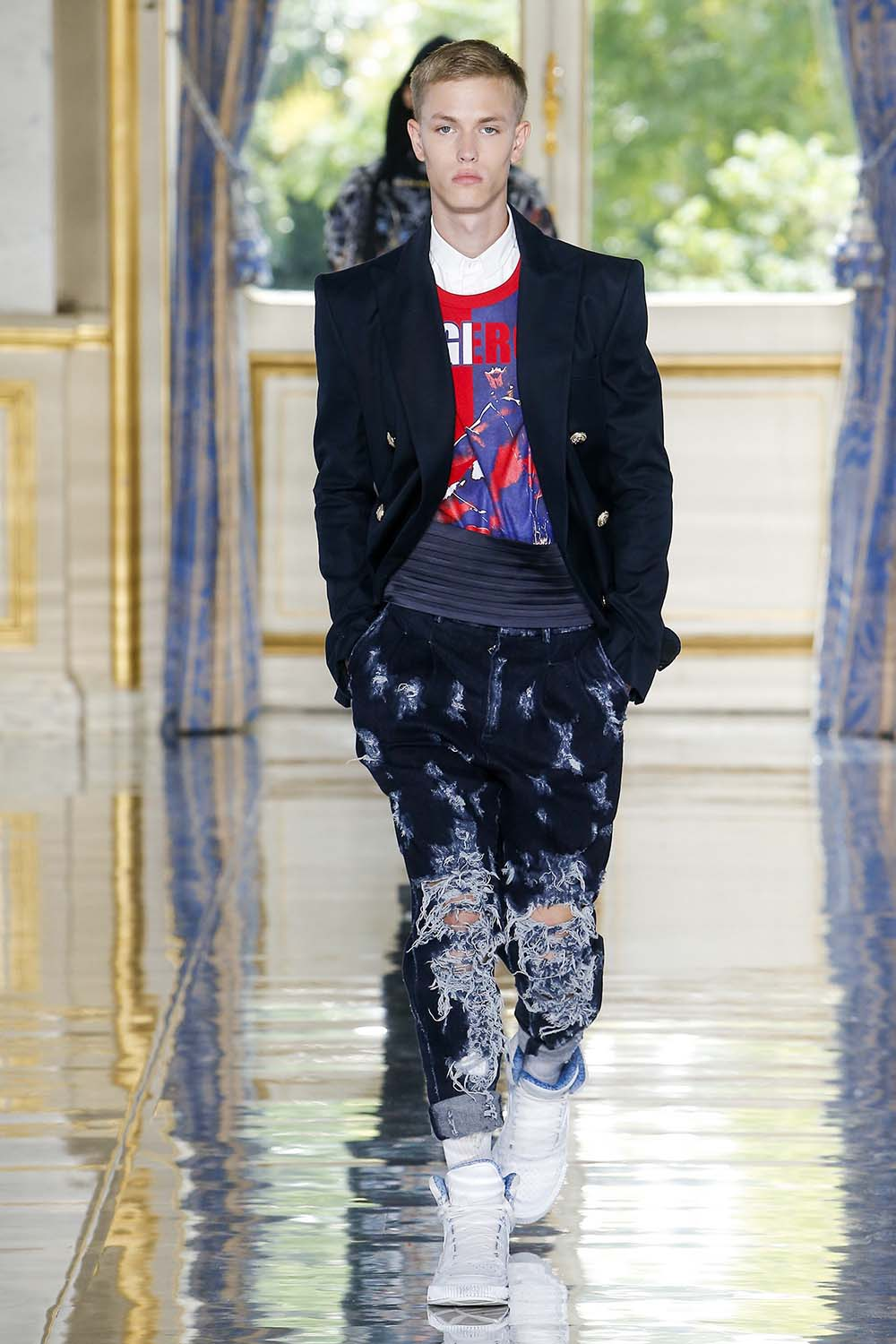 Balmain Paris Fashion Week Men's SS19 - Sagaboi - Look 70
