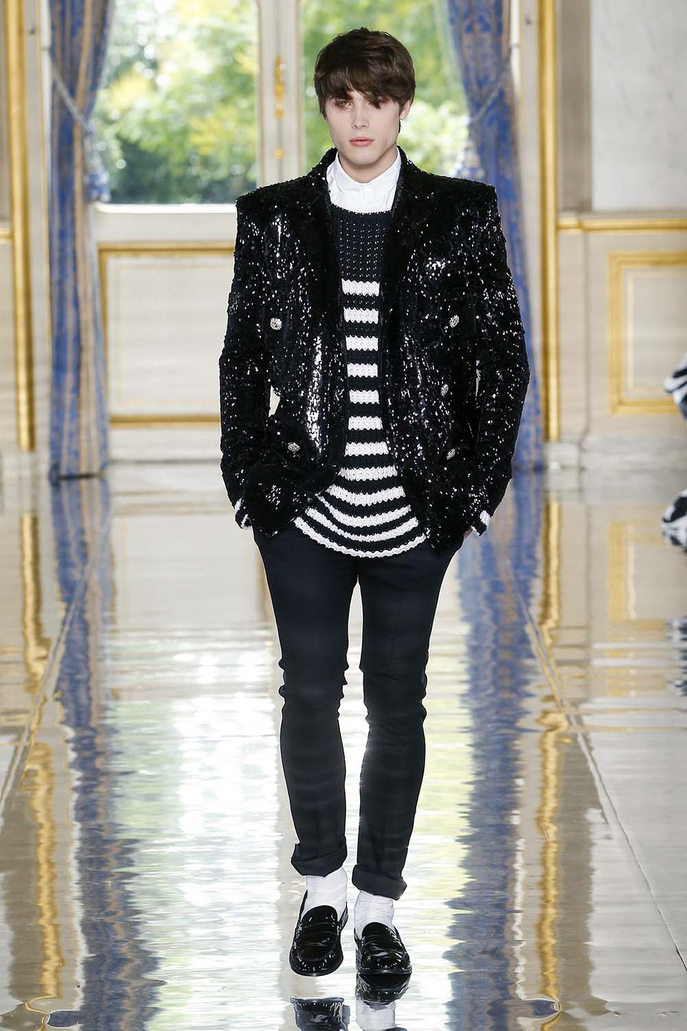 Balmain Paris Fashion Week Men's SS19 - Sagaboi - Look 88