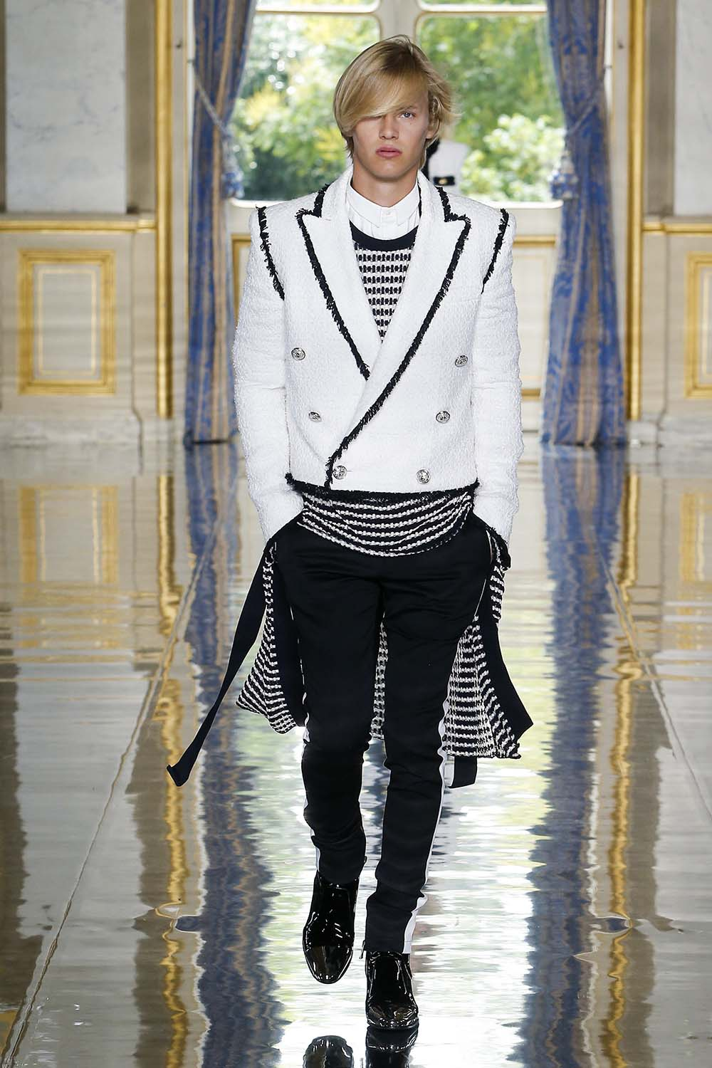 Balmain Paris Fashion Week Men's SS19 - Sagaboi - Look 92